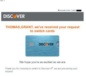 Switch Between Discover Credit Cards